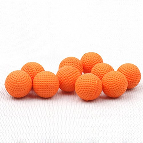 Livoty 50Pcs Bullet Balls Rounds Compatible For Nerf Rival Apollo Child Toy (Orange) (Garbage Bag Body Halloween)