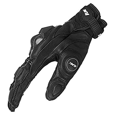 ILM Air Flow Leather Motorcycle Gloves for Men and Women (L, Black): Automotive