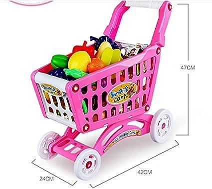 Juguete de carrito de compras trajes bebé juego juguete para niños carro de tamaño carros de