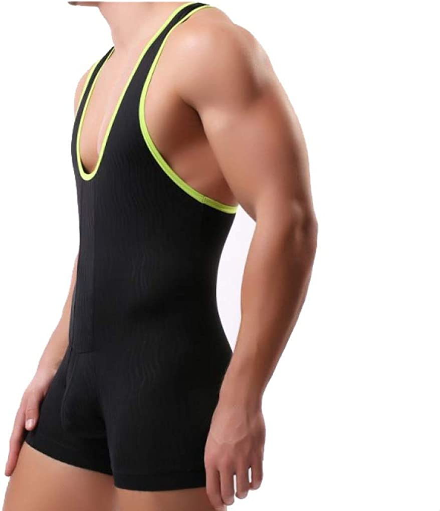 Tirantes de una Pieza de Malla para Hombre Wrestling Singlet Leotard Tanga Body Jumpsuit Briefs Swimwear