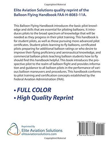 Balloon Flying Handbook FAA-H-8083-11A: Federal Aviation