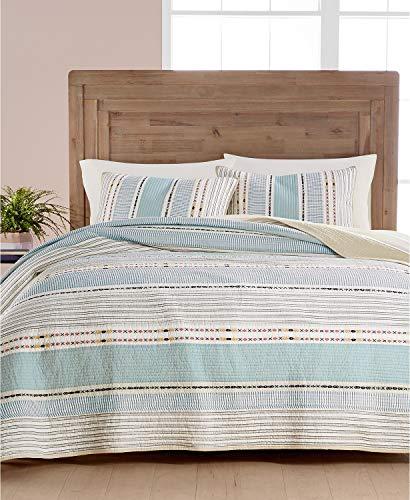 - Martha Stewart Collection Earth-Tone Stripe Cotton Full/Queen Quilt Light Beige