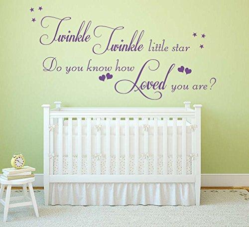 Amazon.com: Twinkle Twinkle Little Star Quote, Vinyl Wall Art ...