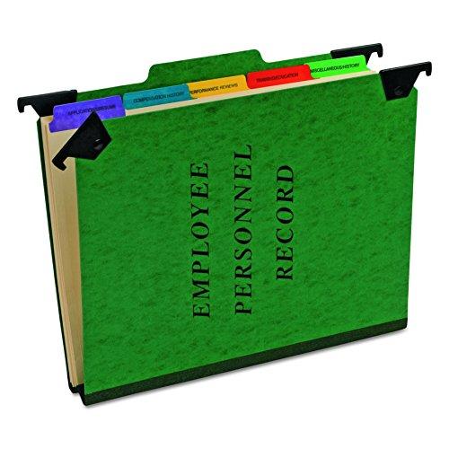Pendaflex Hanging Employee/Personnel Folders, Letter Size, Green, Each (SER-2-GR) (Esselte Hanging Style Personnel Folders)