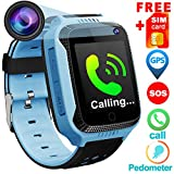 Cheap Kids Phone Smart Watch for 3-12 Year Old Boys Girls GPS Tracker with Free Speedtalk SIM Card Camera Pedometer Calls Watches Phone SOS Anti-Lost Alarm Game 1.4″ HD Screen Sports Watch