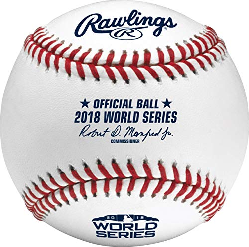 Official World Series Baseball - Rawlings 2018 World Series MLB Official Game Baseball - Boxed