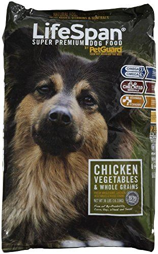 PetGuard Life Span Chicken Flavor Dry Dog Food, 36-Pounds