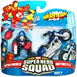 Marvel Superhero Squad Series 16 Captain America & Motorcycle Action Figure 2-Pack