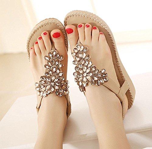 Diamantes de imitación de las sandalias de las mujeres del dedo del pie abierto de las sandalias de los zapatos salvajes A