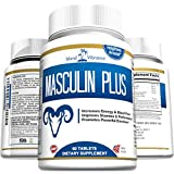 Masculin Plus- Natural Maximum Strength Male Enhancement Pills for Men. For Enlargement, Powerful Erections, Heightened Arousal, and Increased Stamina. 60 Tablets, Full 30 Day Supply.
