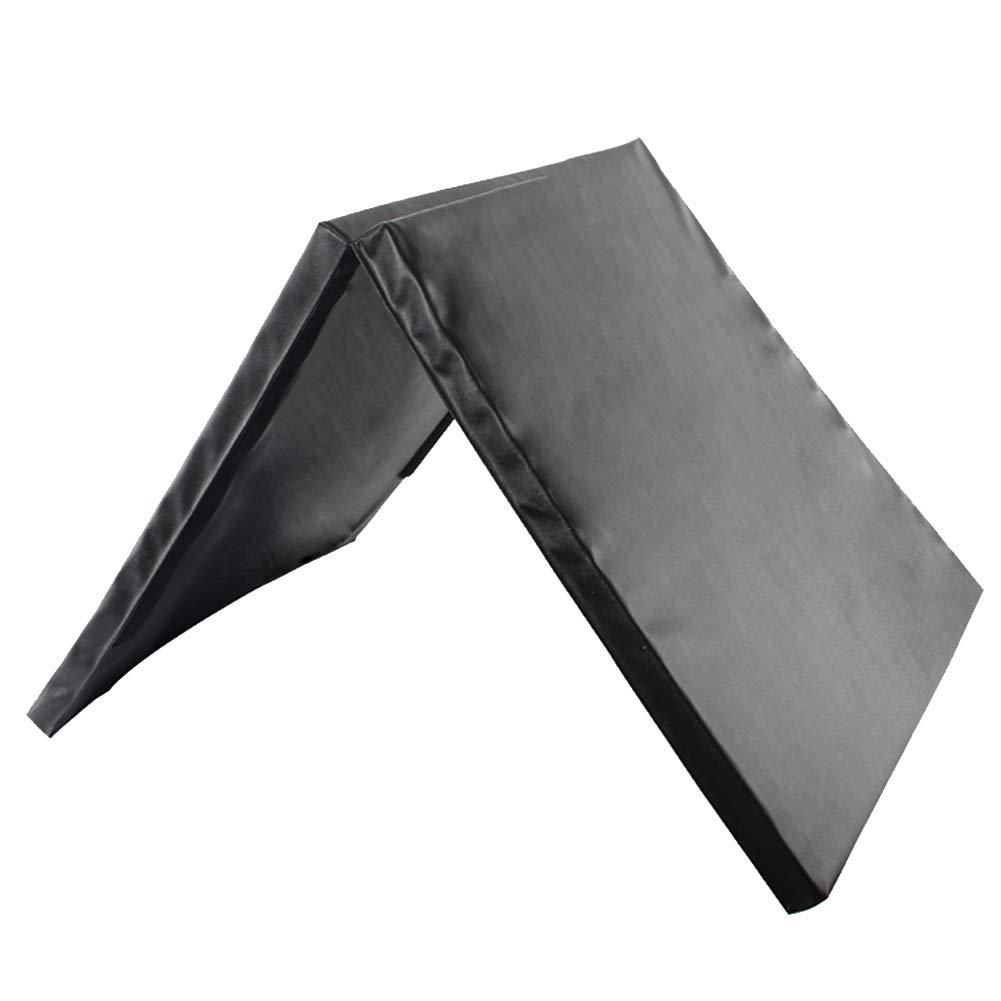 100%品質 ZJ 体操用マット折りたたみエクササイズジムマット、PUパネルフィットネスエクササイズホームマット、滑り止め10cm厚タンブリングマット79×39インチ ZJ (色 (色 : 青) B07MGWKKQL 黒 黒 黒, はっぴータイル:7f4fc76b --- arianechie.dominiotemporario.com