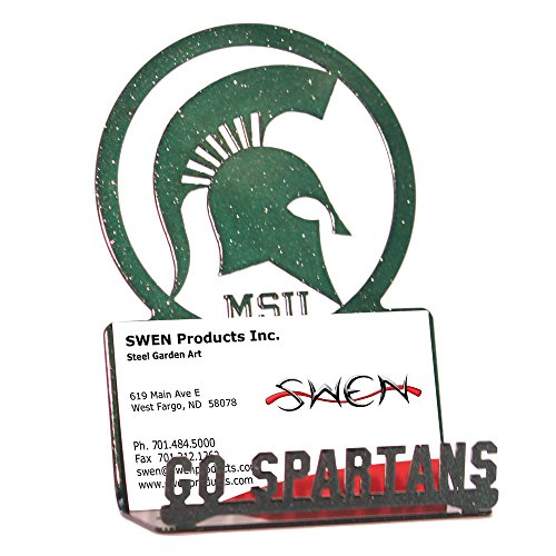 SWEN Products MICHIGAN STATE SPARTANS Business Card Holder (Card Business Michigan Holder)