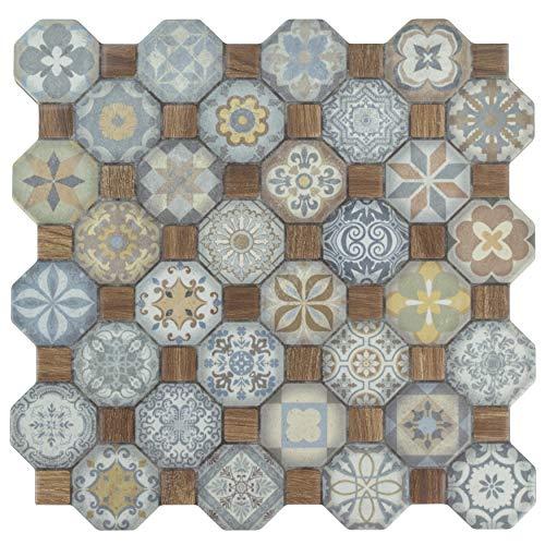 SomerTile FOSTESML Abacu Ceramic Floor & Wall Tile, 12.25