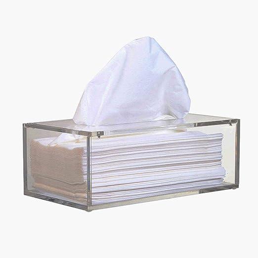 LASISZ Caja de pañuelos acrílicos faciales, Soporte para pañuelos ...