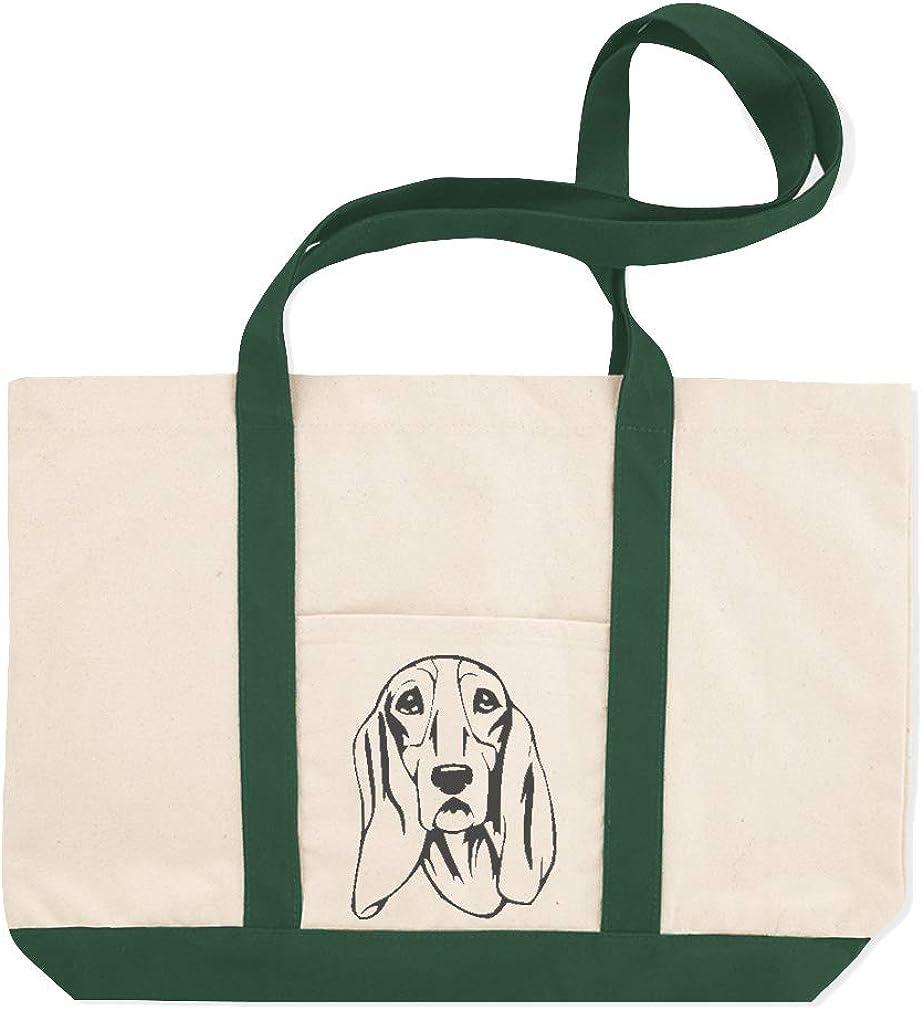 Canvas Shopping Tote Bag Schweizer Laufhund Head Black Schweizer Laufhund Dog Beach Bags for Women