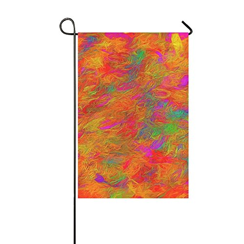 YIJIEVE Home Decorative Outdoor Double Sided Abstract Patter