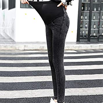 6ec83348096d9 Image Unavailable. MUQGEW Maternity Clothes zwanger Maternity Pregnancy  Skinny Trousers Jeans Over The Pants Elastic Vetement grossesse Femme