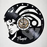 Toffy Workshop Prince - art vinyl wall clock - handmade -artwork - unique - home - bedroom - living - kids room -nursery - wall - decor - great gifts - idea for birthday, wedding, anniversary