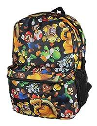 "Backpack - Nintendo - Super Mario Bros 16"" New 566837"