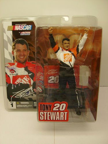 Tony Stewart #20 Series 1 Six Inch Home Depot Action Figure No Helmet No Sunglasses