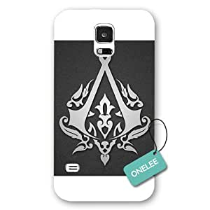 Onelee(TM) - Assassins Creed Logo White Frosted Samsung Galaxy S5 Case & Cover - White 17