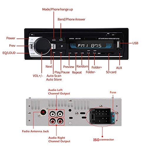 51jNo5ZesoL - Andven Autoradio Bluetooth, 4×60W Manos Libres Radio Estéreo de Coche, Apoyo d