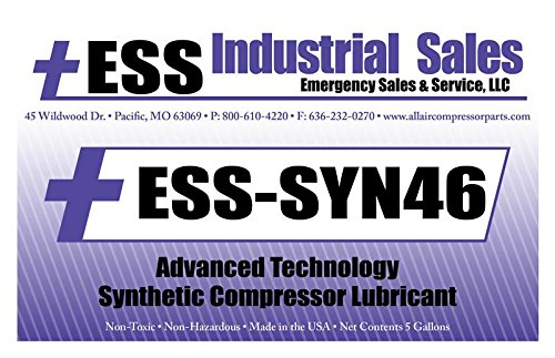 ESS-SYN-46, Curtis VO-414, R-RS-8000, Advanced Technology Lubricant, Replacement, 5 gallon pail, ESS-SYN-46 by ESS