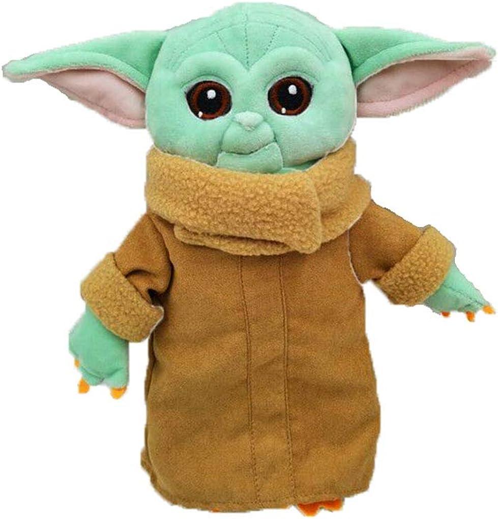 El Mandalorian Baby Yoda de peluche de dibujos animados de anime de peluche regalos para ni/ños de peluche de Yoda de peluche para ni/ños verde