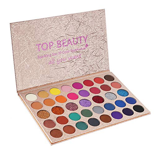39 Colors Eyeshadow Makeup Palette Highly Pigmented Warm Neutral Smokey Eye Makeup Powder Easy To Color Multifunctional…