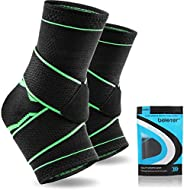 Beister 1 Pair Ankle Brace Compression Support Sleeve for Women & Men, Elastic Sprain Plantar Fasciitis Fo