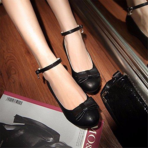 Zapatos de Tacón/Señora, Arco Corto y Solo Zapatos de Mujeres Black