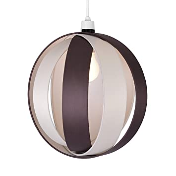 Modern cream chocolate brown fabric cocoon globe style ceiling modern cream chocolate brown fabric cocoon globe style ceiling pendant light shade mozeypictures Images