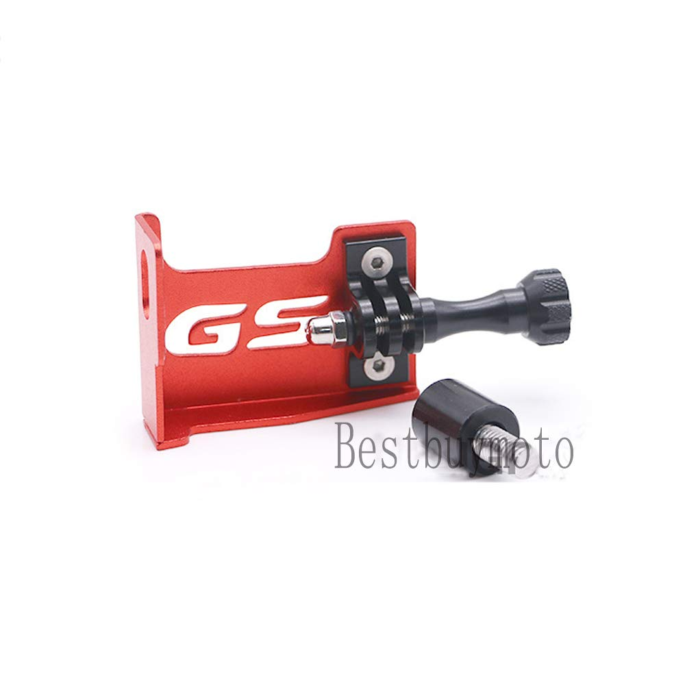 Red Motorcycle Parts Front Left Bracket for Go Pro for BMW F650GS//F700GS//F800GS 2013-2017