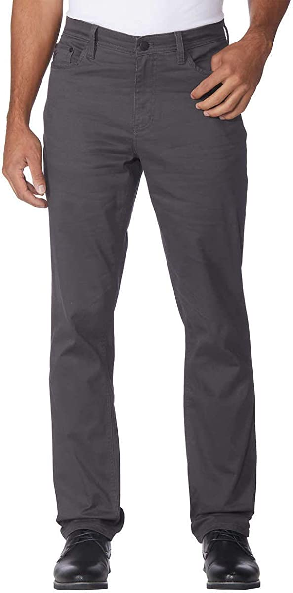 English Laundry Mens 5-Pocket Straight Leg Pant (36X32, Forged Iron)