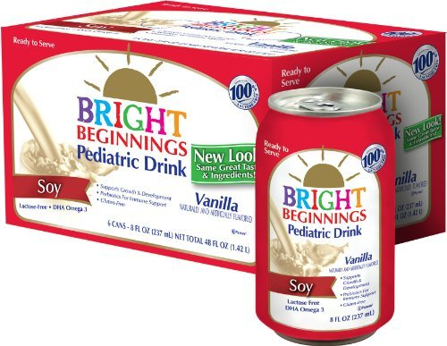 Bright Beginnings Soy Pediatric Nutritional Drink, Vanilla, 6 Count by Bright Beginnings