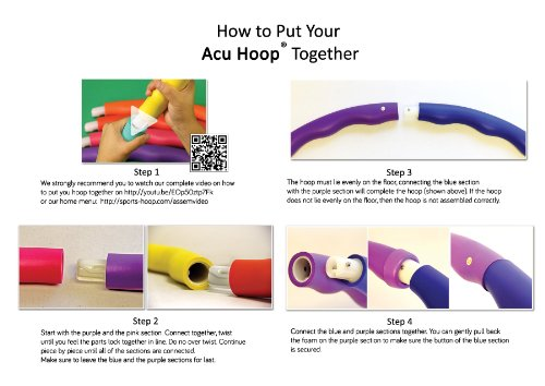 "Sports Hoop® - Acu Hoop® 3L - 3.3lb (Dia.41"") Large, Weighted Hula Hoop for Workout with 50 minutes Workout Lesson DVD"