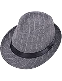 a7562f0143a Men s   Women s Manhattan Structured Gangster Trilby Wool Fedora Hat Black
