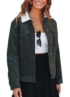 Amazon.com: Chaqueta para mujer de manga larga con bolsillos ...