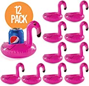 12 Drink holders drink floaties, Pool drink holder floats, flamingo inflatable floating drink cup holder, pool