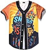 Pizoff Short Sleeve Baseball Team Jersey Cartoon King of Hip Hop Basketball Shirt Y1724-59-S