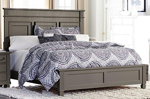 HEFX Gervais Queen Bed in Grey Rub-Through