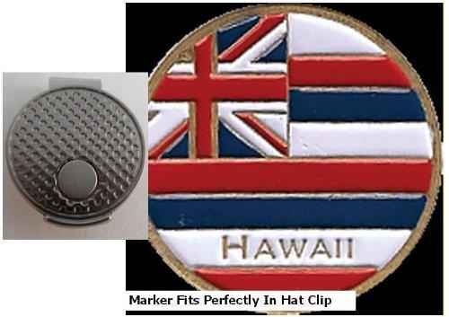 Hawaii Golf Ball Marker w/Silver Hat Clip