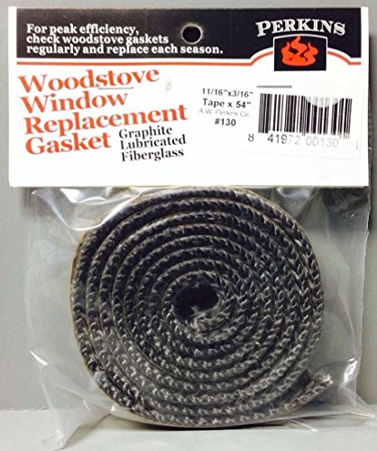 AWP130 Self Stick Adhesive Gasket Wood Pellet Stove Window Glass Door Black Tape