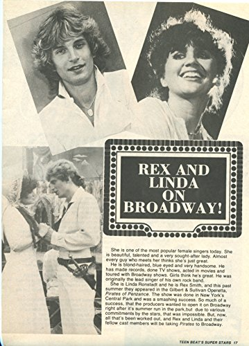 Rex Smith Linda Ronstadt Shaun Cassidy original 1pg 8x10 clipping magazine photo #S8625