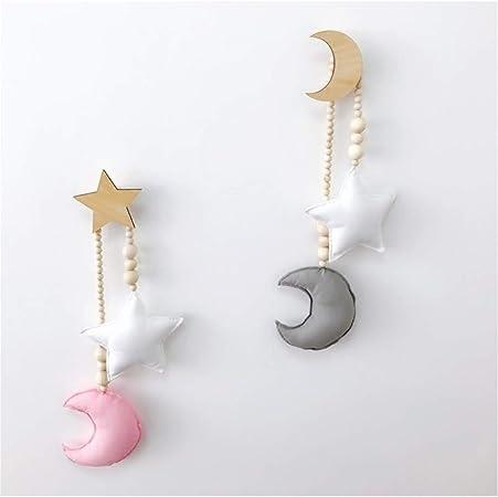 Motivo: Luna Bianca e Stella Grigia LIOOBO Lettino con Luna e Stelle da Appendere alla cameretta dei Bambini