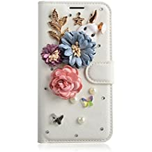 Alcatel A3 XL Case,Gift_Source [Card Slot] [Folio Flip] Luxury 3D Bling Crystal Rhinestone PU Leather Magnetic Wallet Case Kickstand Cover for Alcatel A3 XL (6.0 inch) [rabbit in the garden]