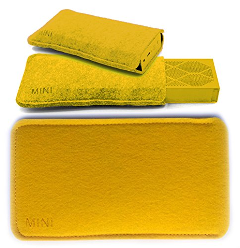 FitSand Portable Protective Travel Soft Slim Carry Pouch Bag Box Case Cover for Jambox Mini Jawbone Wireless Bluetooth Speaker(Yellow)