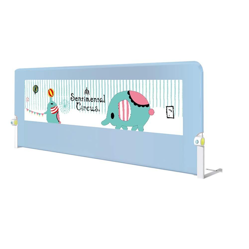 QFFL 幼児のためのベッドの柵、単一の折り畳み式の網のベッドのガードレールの安全保護塀 - ピンク/青(1.5 / 1.8 / 2.0m) (Color : 1, Size : 1.8m) 1.8m 1 B07SZLF86D