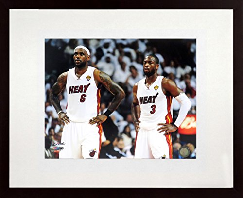 "Miami Heat Photograph (LeBron James & Dwyane Wade Miami Heat ""Champions""11x14 Photograph (SGA UnderFifty Series) Framed)"