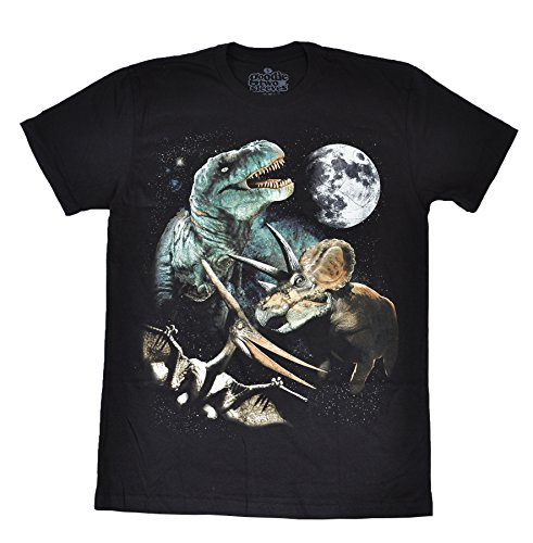 Goodie Two Sleeves Men's 3 Dino Moon T-Shirt